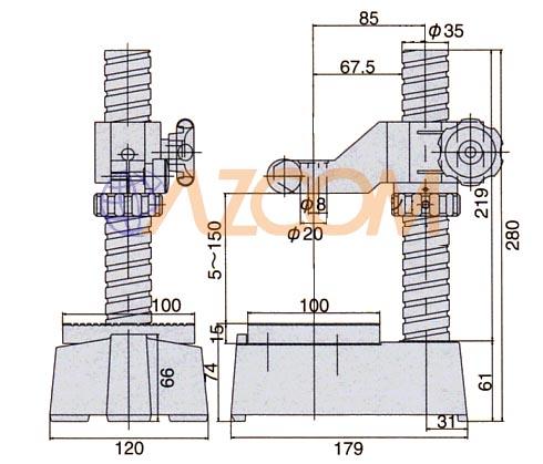 Dimensions ; PDS-2, PDS-2F